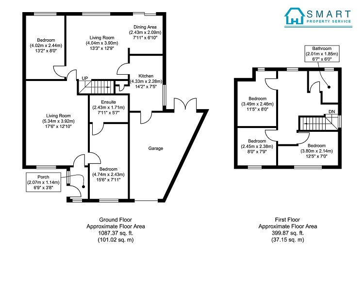 BLACK & WHITE FLOOR PLAN 2D